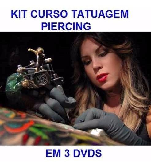 Aulas De Piercing + Tatuagem - Curso Em 3 Dvds