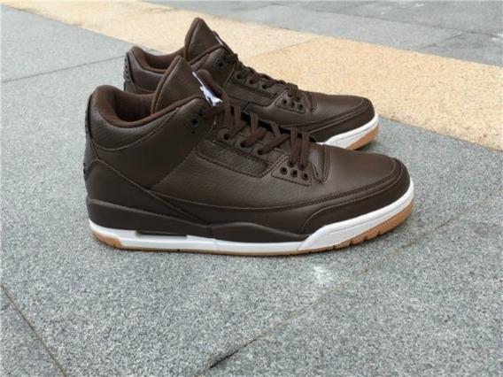 Tênis Masculino Air Jordan Retro 3 Chocolate Original