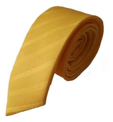 Corbatas - Amarillo Vivo Labrado Diagonal Slim