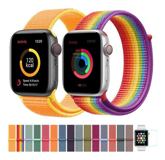 Pulseira Apple Watch Nylon 38/40/42/44mm + Película E003