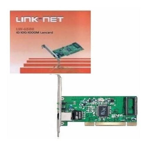 Tarjeta De Red Pci Rj45 Link Net Lw-6588 10/100/1000mbps Pc