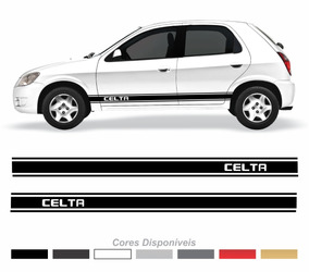 Adesivo Chevrolet Celta Faixa Lateral Personalizado Imp43