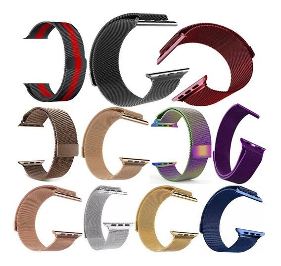 Correa Extensible Malla Acero Para Apple Watch Series 5 4