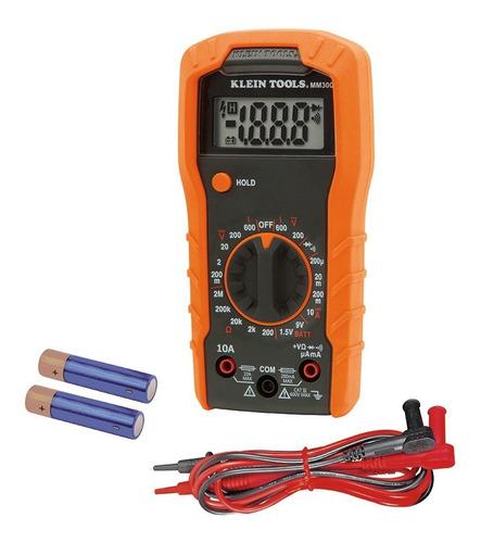 Imagen 1 de 7 de Multimetro Digital Con Selección Manual Klein Tools Mm300