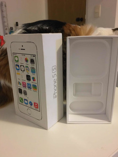 Caixa Original iPhone Apple 5s Silver 32 Gb