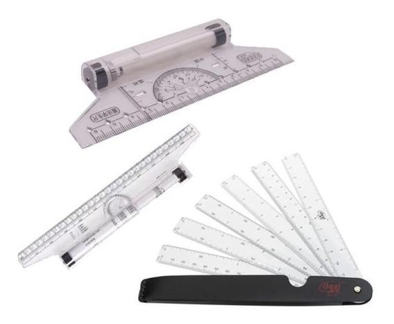 Kit Rolling Ruler 30cm 14cm Escalímetro Bolso Frete Gratis