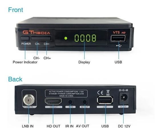 Dvb-s2 Hd Receptor Gtmedia V7s Com Usb Wifi Pronta Entrega