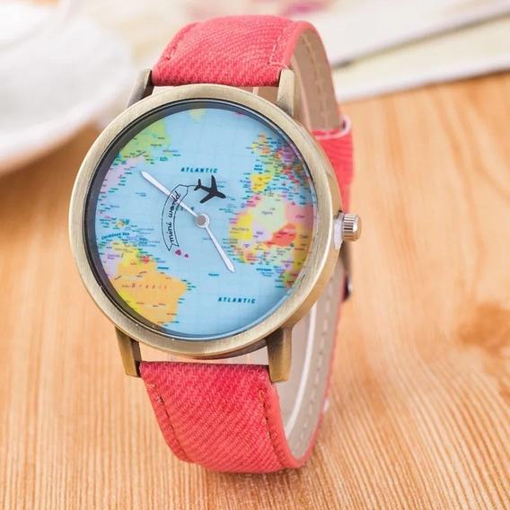 Reloj Viajero Avión Océano
