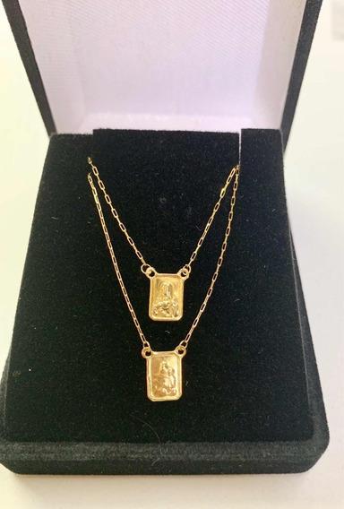 Escapulário Unissex 65cm Oferta Ouro 18k 750