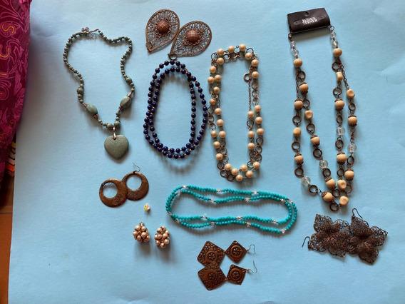 Collares Y Aretes Vintage Bonitos Y Muy Combinables