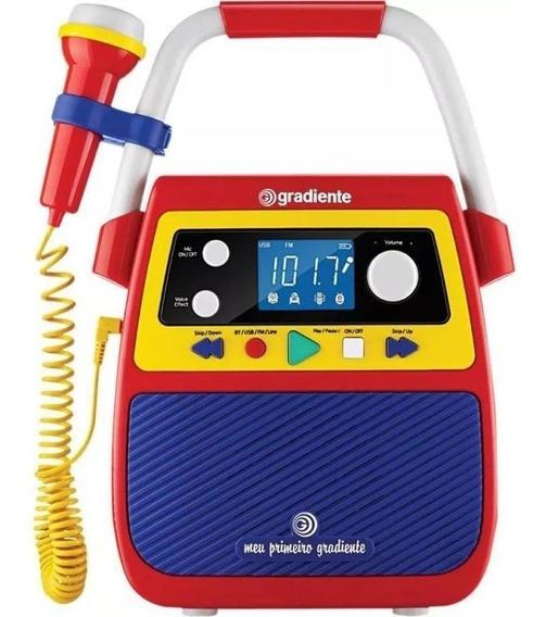 Rádio Karaoke Meu Primeiro Gradiente Infantil Bluetooth