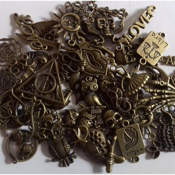 50 Pingentes Ouro Velho Colar Pulseiras Bijuteria Atacado