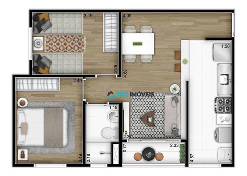 Apartamento Para Venda Com 46 Metros Quadrados No Jardim São Vicente Em Campinas - Sp. - Ap2342
