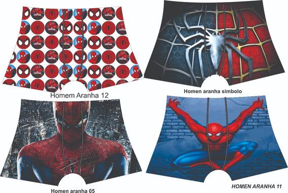 10 Cuecas Infantil Sublimadas - Homem Aranha - Somos Fábrica