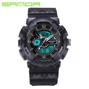 Relógio Sport Sanda Camouflage