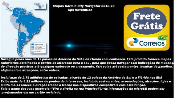 Mapa City Navigator América Do Sul E Flórida Frete Grátis