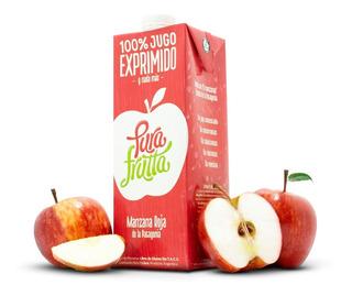 Jugo 100% Exprimido X 1 Ltr Pura Frutta Manzana Roja