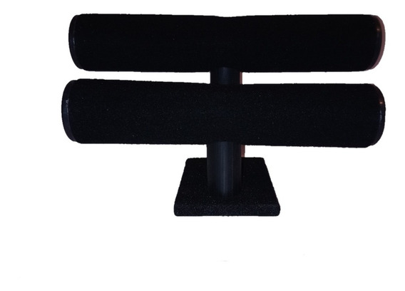 Exhibidor Porta Pulseras De 2 Fijo, Color Negro