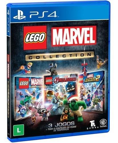 Jogo Lego Marvel Collection Playstation 4 (3 Jogos) Ps4