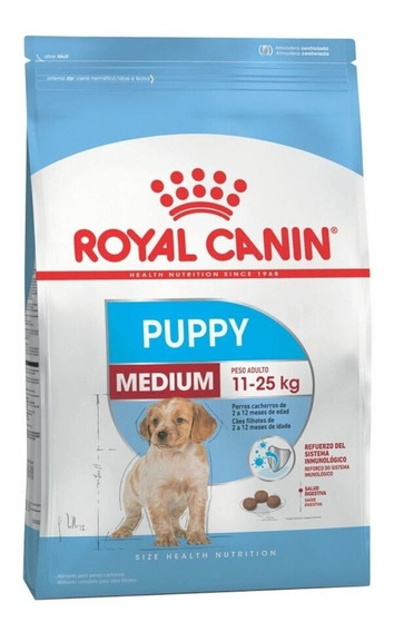 Ração Royal Canin Medium Puppy Size Health Nutrition cachorro filhote raça média 15kg