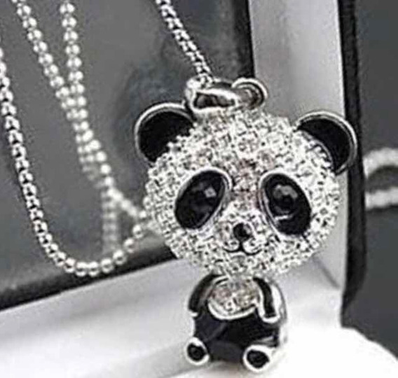 Collar Oso Panda + Bonito Estuche.
