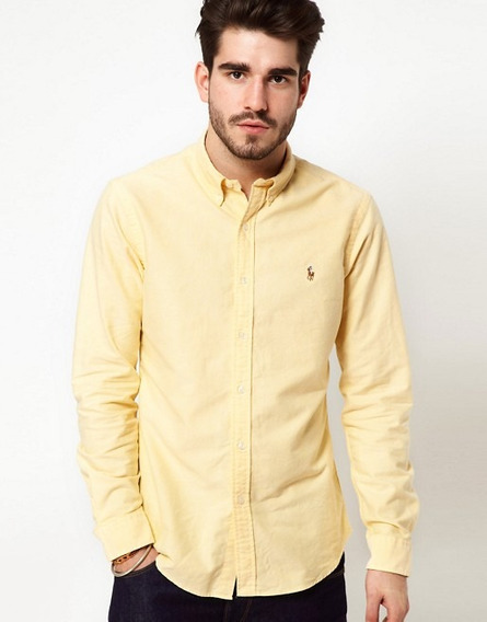 Camisa Polo Ralph Lauren Oxford Talla Medium