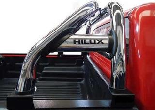 Barra Jaula Antivuelco Cromo Cobra P/ Toyota Hilux 2005 2006 2007 2008 2009 2010 2011 2012 2013 2014 2015 Acc Jorge