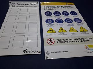 Cartel De Obra - Normas De Seguridad Obligatorias - Gcba