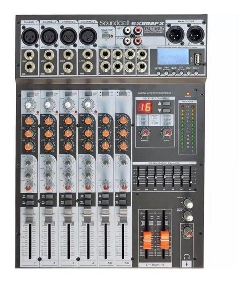Mesa De Som Soundcraft Selenium Sx802fx 8 Canais Usb.