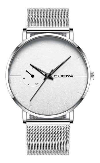 Relógio Masculino Luxo Quartzo Pulseira De Aço