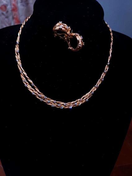 Gargantilla Y Aretes De Oro Con Diamantes De La Marca Effy