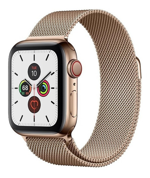 Apple Watch Série 5 Gold C/ Milanes 40mm Gps, Pronta Entrega