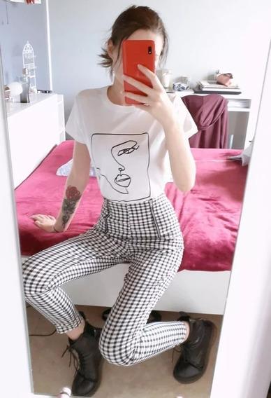 Camiseta De Augodâo Casual Feminino