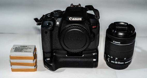 Câmera Canon T5i + Grip + 18-55mm