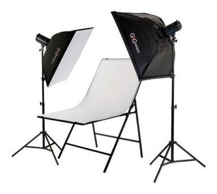 Kit De Iluminação (800w) Estúdio Fotográfico E Vídeo 60x80