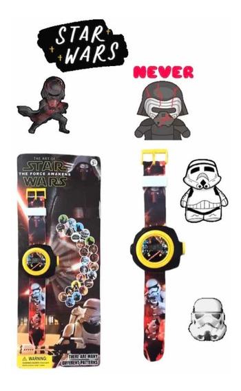 Relógio Infantil Projetor De 24 Imagens - Star Wars Trooper