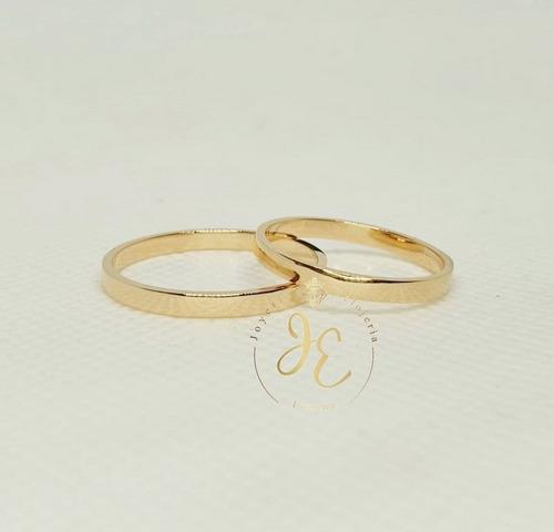 Aros De Matrimonio Oro 18k Alianzas Clasico Am_96 Jespaña