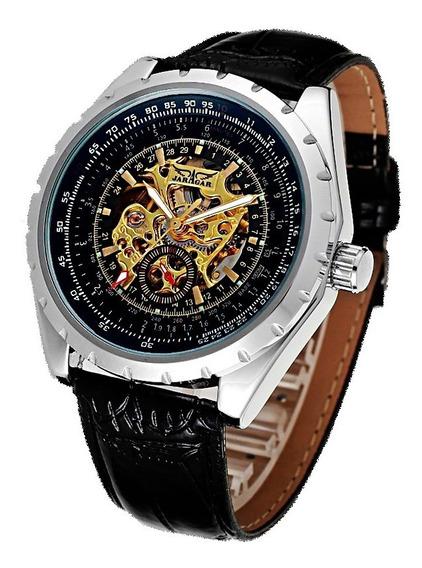 Reloj Jaragar Skeleton Ejecutivo Automatico - 100% Original