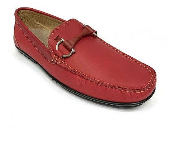 Zapatos Mocasines Full Time Caballero Rojo Ft 2612 Corpez 48