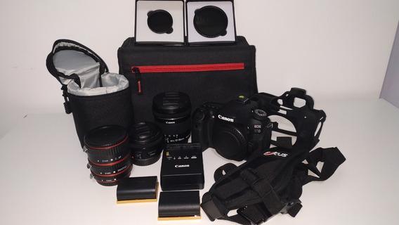 Kit Câmera Dsrl Canon 80d + 2 Lentes + Filtros Nd + Brindes