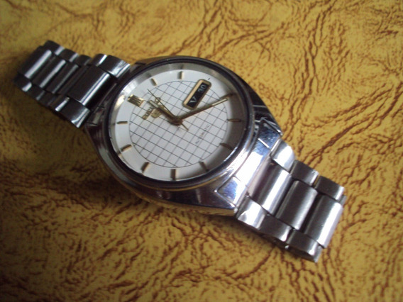 Relógio Seiko Branco Quadriculado