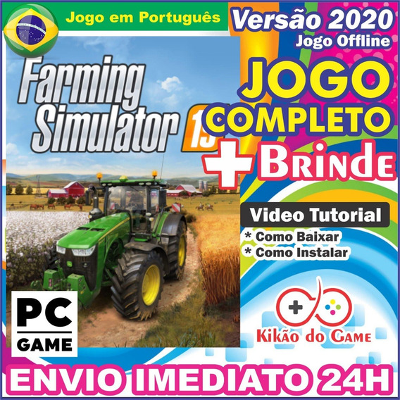 Farming Simulator 19 Pc Digital Br + Brinde