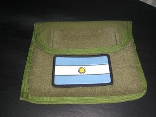 Pouch Porta Mapa Administrativo Molle Con Bandera Pvc