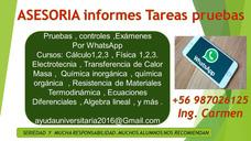 Clases Fisica Quimica Calculo Tareas Y Examenes Whatsapp