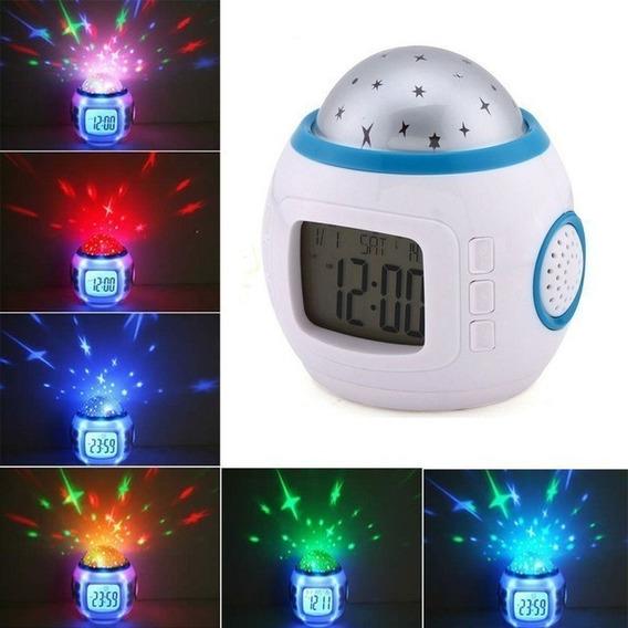 Reloj Despertador Digital Led Estrellas Colores Niños