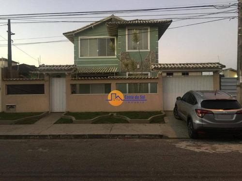Casa Com 4 Dormitórios À Venda, 218 M² Por R$ 1.400.000,00 - Recreio - Rio Das Ostras/rj - Ca1743