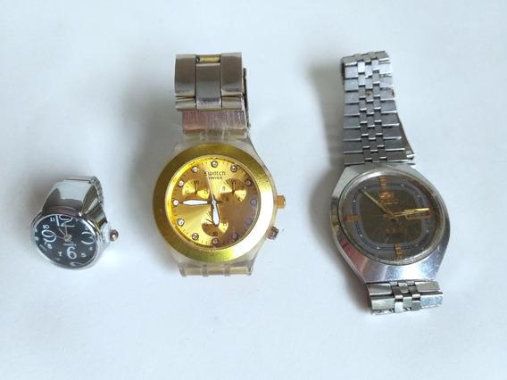 Relógio De Pulso Para Restauro Orient Swatch 3 Peças