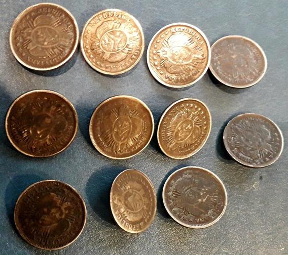 Antigua Moneda Plata Bolivia Botón De Rastra Precio X Unidad