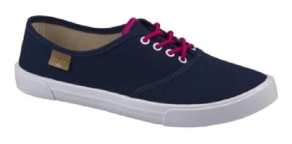 Moleca Tenis Casual / Sneakers Preto/marinho