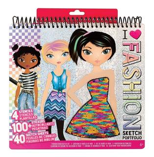 Libreta Portafolios Fashion Angels Para Diseño De Moda